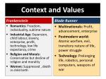 context and values