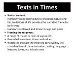 texts in times