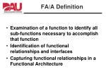 fa a definition