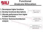 functional analysis allocation