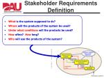 stakeholder requirements definition