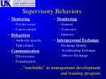 supervisory behaviors