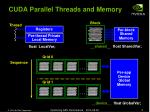 cuda parallel threads and memory