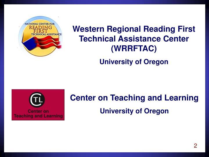 Western Regional Reading First Technical Assistance Center (WRRFTAC)