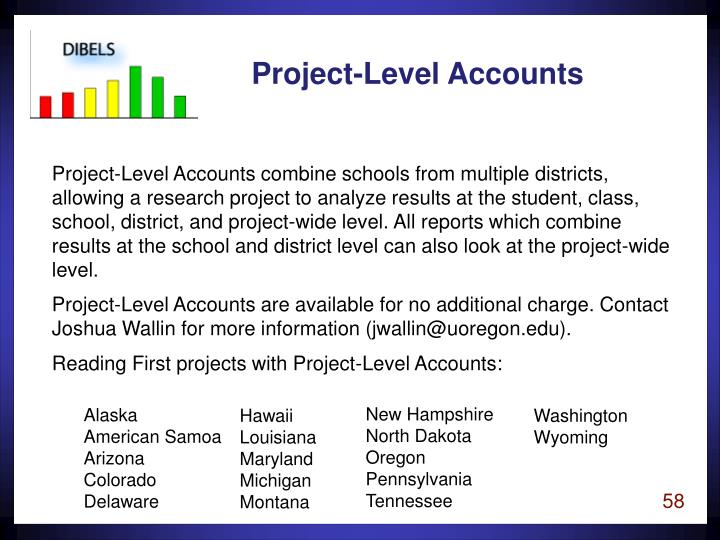 Project-Level Accounts