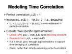 modeling time correlation