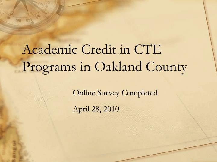 academic credit in cte programs in oakland county n.