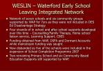 weslin waterford early school leaving integrated network