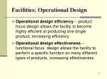 facilities operational design