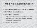 what are covered entities