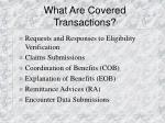 what are covered transactions