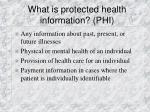 what is protected health information phi