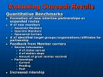 evaluating outreach results