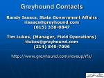 greyhound contacts