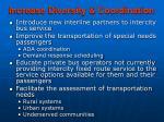 increase diversity coordination