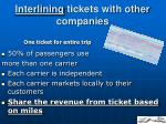 interlining tickets with other companies