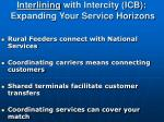 interlining with intercity icb expanding your service horizons