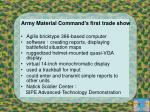 army material command s first trade show