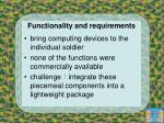 functionality and requirements