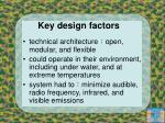 key design factors