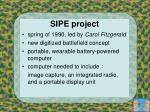 sipe project