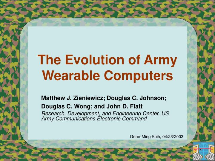 the evolution of army wearable computers n.