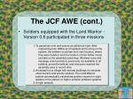the jcf awe cont