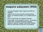 weapons subsystem wss