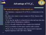 advantage of yc b c r