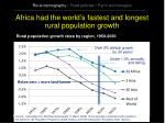 africa had the world s fastest and longest rural population growth