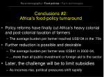 conclusions 2 africa s food policy turnaround