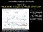 postscript what role for foreigners in africa s turnaround