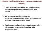 estudios con hipolipemiantes en pacientes renales cr nicos