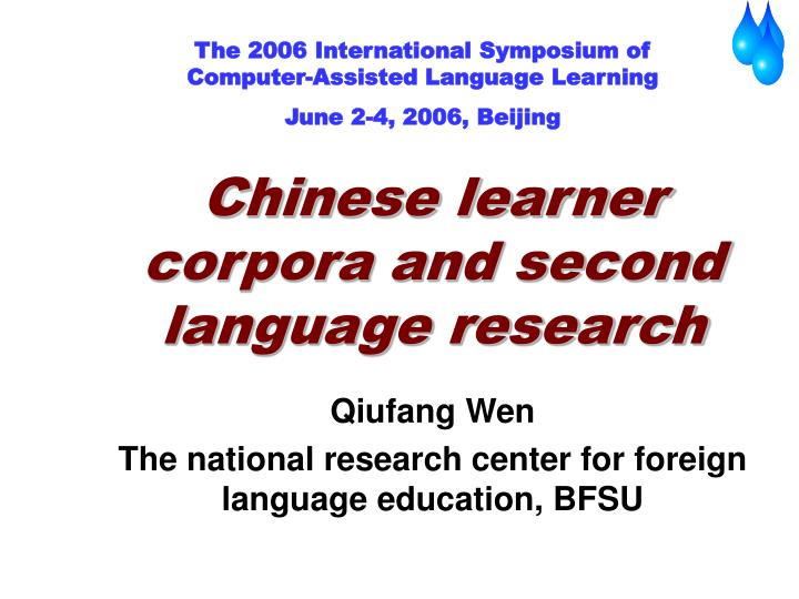 chinese learner corpora and second language research n.