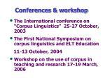 conferences workshop