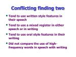 conflicting finding two