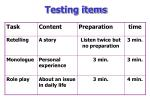 testing items