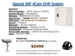 special 60f 4cam dvr system