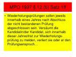 mpo 1997 12 6 satz 1ff