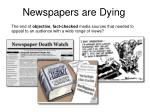 newspapers are dying