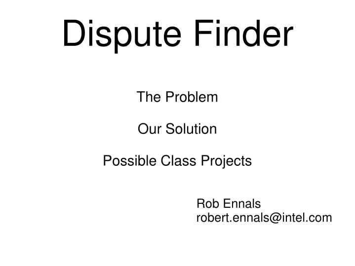 the problem our solution possible class projects n.