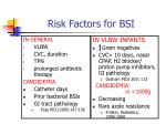 risk factors for bsi3