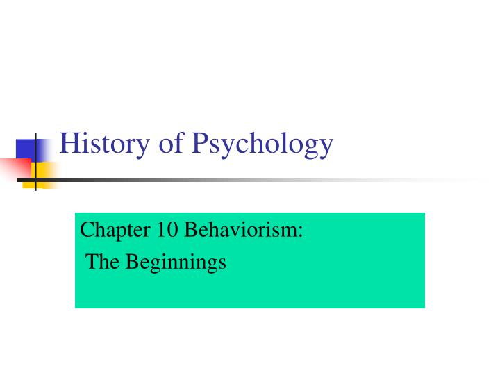 history of psychology n.
