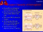 oxygen capacity of hemoglobin2