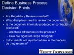 define business process decision points