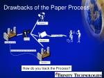 drawbacks of the paper process