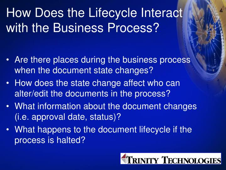 How Does the Lifecycle Interact with the Business Process?