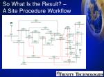 so what is the result a site procedure workflow