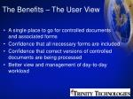 the benefits the user view