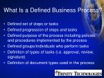 what is a defined business process